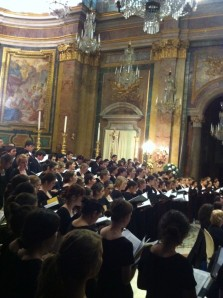 Choir singing in Rome, April 1st