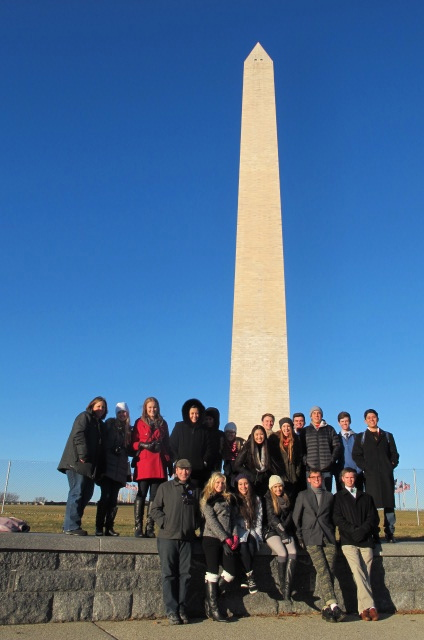 Upon arrival, our 17 ASB students started their journey at the Washington Monument then toured many Smithsonian Museums.