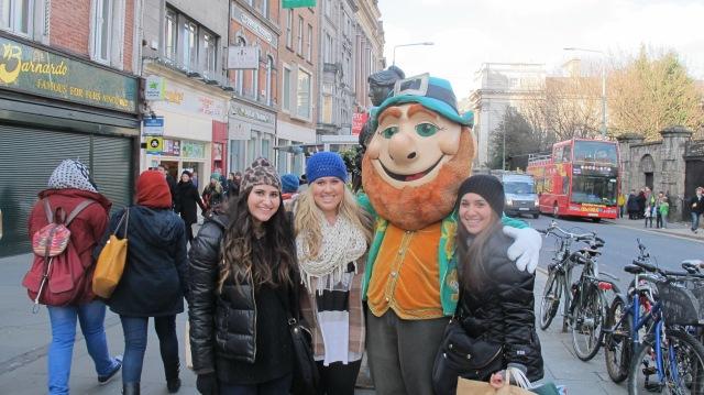 "Local ""Lucky"" Leprechaun on Grafton Street"