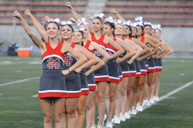Mater Dei Pep Squad is comprised of members from MD Cheer and Song Teams