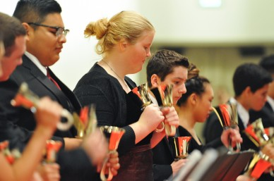 MDHS Handbells Ensemble is part of the Choir Program