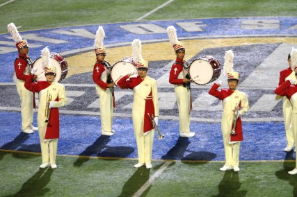 MD Pageantry Corps is comprised of our Marching Band and Color Guard programs