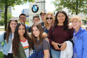 Students visited BMW World and the BMW Museum