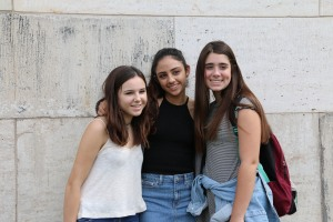 From Left to Right Alina Fox Camile El-Bayar Isabella Gourde