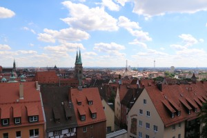 View of the town of Nuremberg from our castle