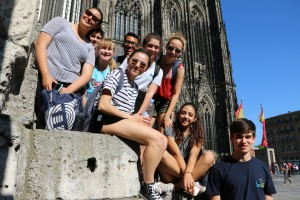 Our Student Group in front of Cologne Cathedral