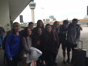 Our last picture! Taken at Amsterdam Airport,